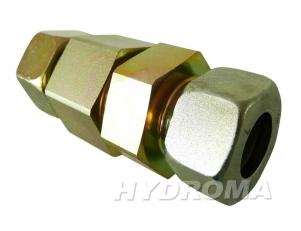 zpětný ventil s maticí a prstýnkem