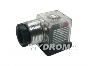 konektor s LED indikací a zhášením